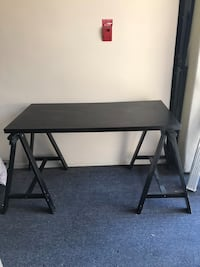 Rectangular black wooden table with two chairs Los Angeles, 90028