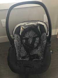 Baby's black and white paisley car seat carrier