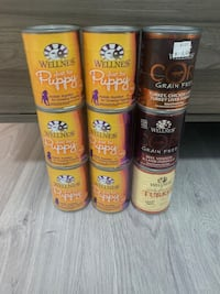 Canned puppy/dog food