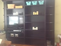 Dania brand media center/ bookcase all wood, adjustable shelves Downers Grove, 60516