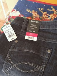 size 14 x 32L black George denim bottoms Laval, H7W 2R8
