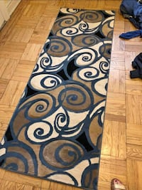 Sold Blue Geometric Runner rug delivery included in great condition  New York, 10023