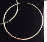 Thin large hoops, sterling silver Silver Spring, 20904