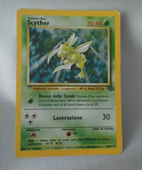 Carta Pokemon Scyther holo set jungle rarita 6770 km