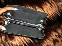 black leather zip-around wallet Surrey, V3V 7Z6