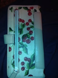white and green floral leather wallet Brunswick, 21716