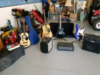 Guitars with cases and stands and 3 AMPS Hesperia, 92345