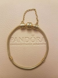 Pandora gold plated bracelet and chain Ajax, L1T