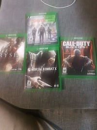 Xbox one games Ontario, L7E 2G6