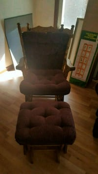 Rocking chair and rocking foot stool Detroit