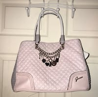 Pink and grey Guess purse