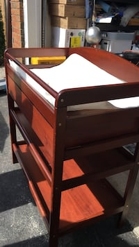 brown wooden 3-layer changing table Mississauga, L5B 2M4