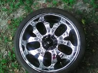 24 inch crime rims with tires &black center caps Lincolnville, 29485