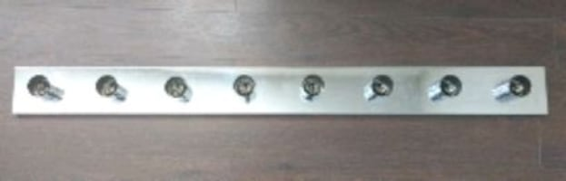 Vanity light bar, Chrome finish