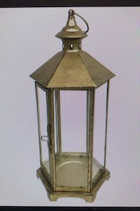 "16.5"" Gold Iron & Glass Lantern Wedding Decor Qty: 6 Silver Spring, 20902"