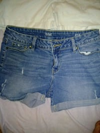blue denim distressed short shorts Ashland, 41101