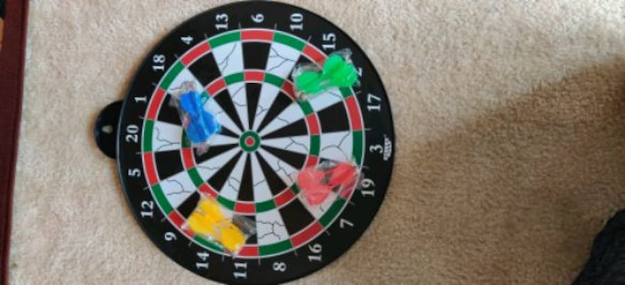 Magnetic dart board 12 PC's magnetic dart excellent indoor game party c656afe5-1b33-4fbd-ac39-e966671a4666