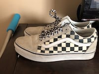 Creme Checkered Old Skool Vans(With Checkered Laces) Clovis, 93619