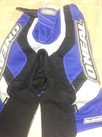 blue and black O Neal racing suit Hamilton