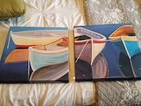 2 boat paintings on canvas Fairfax