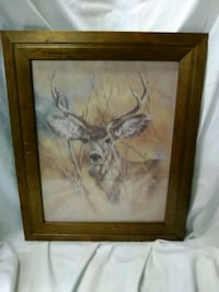 Deer picture in wooden frame Hagerstown, 21740