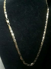 """20"""" gold plated necklace. Revere, 02151"""