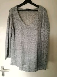 Knitted oversized gray sweater 6646 km