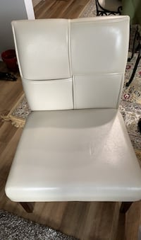 Ivory Leather Chair Laurel, 20707