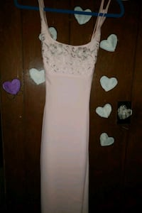 white and pink floral sleeveless dress 353 mi