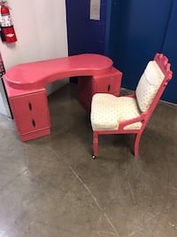 pink and white wooden desk Westminster, 80021
