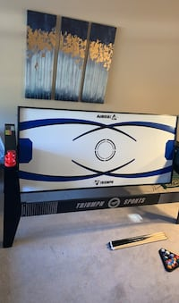 TRIUMPH SPORTS 4 in 1 Pool air hockey table.  Brand new $499 on amazon