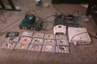 Nintendo 64 console with controller and game cartridges Dallas, 75240