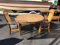 "R-Way Furniture dining table and two chairs 48"" L 30"" H 36"" W Romeoville, 60446"