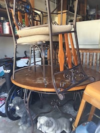Nice iron wood table chairs Oxnard, 93030