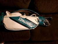 golf bag and spalding iron set w putters Mississauga, L5J 1M5