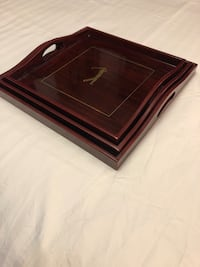 Golf themed wooden serving trays. Toronto, M6N 3E8