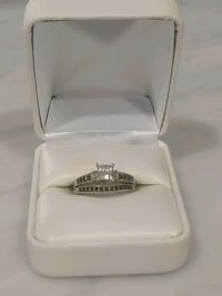 White gold and diamond Engagement ring set