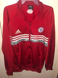 Red Adidas zip up / The Ontario soccer Association size large