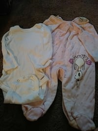 white and pink onesies Columbus, 31903