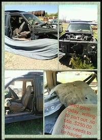 broken car with collage