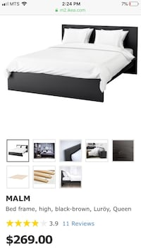 IKEA bed with four sliding drawers, slats, and two night stands Winnipeg, R3T 1S4