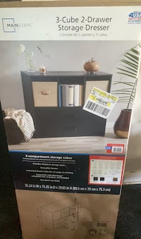 3cube dresser could be used as tv stand as well BRAND NEW NEVER OPENED