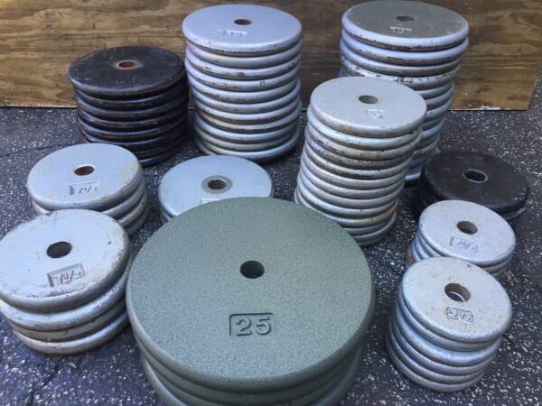 3a0050c8a00 STANDARD PANCAKE PLATES (GREAT FOR MAKING UP YOUR OWN DUMBBELLS