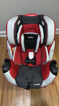 Baby's red and black evenflo car seat carrier. Fairfax, 22033