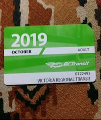 Adult October bus pass, I can meet or deliver depending on location