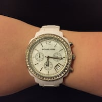 Michael Kors White runway watch