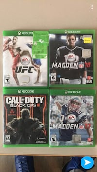 four Xbox One game cases Waterloo, N2L 3B4