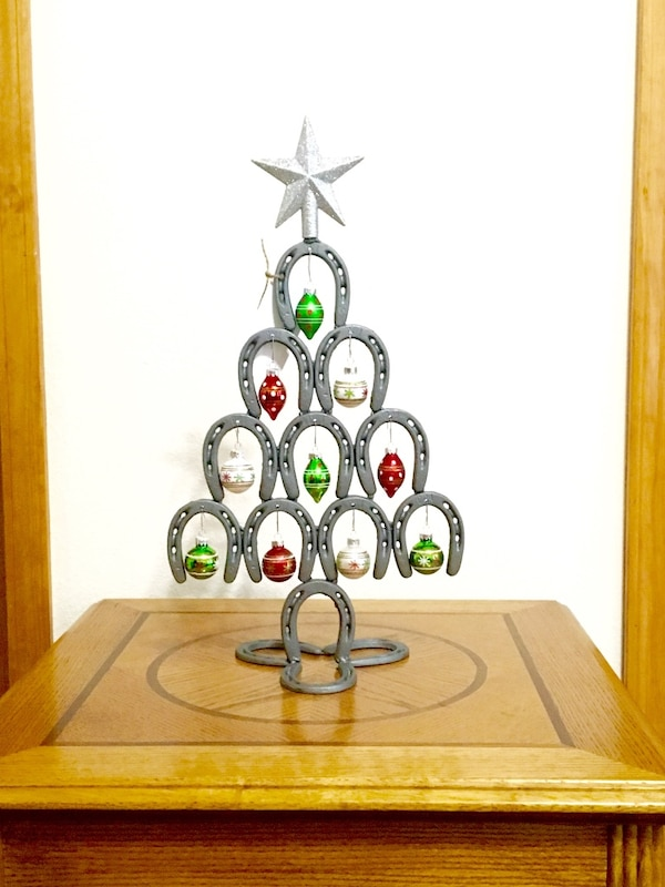 Horseshoe Christmas Tree For Sale.Grey Horseshoe Christmas Tree