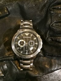 Emporio Armani Mens chronograph stainless steel watch