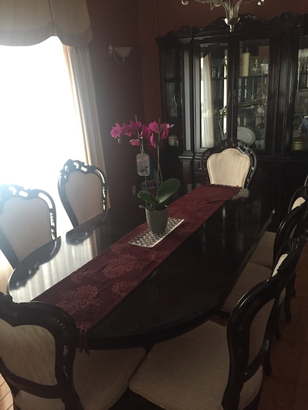 Used Brown Wooden Dining Table Set For Sale In Barrie